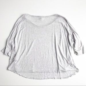 Wilfred Tops - Wilfred Crop Top Flowy Short Sleeve Grey Large